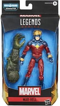 Marvel Legends Mar-Vell Capitão Marvel Wave Gamerverse BAF Abominável