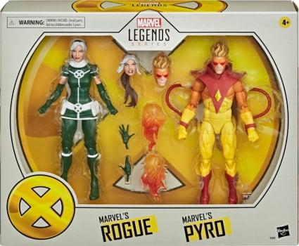 Marvel Legends Rogue e Marvel Legends Pyro - X-Men