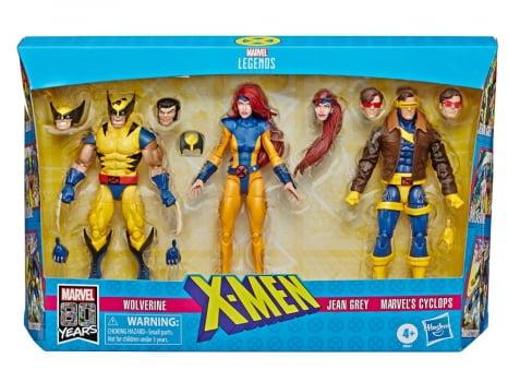 Marvel Legends Wolverine, Jean Grey and Cyclops (Ciclope) - X-Men