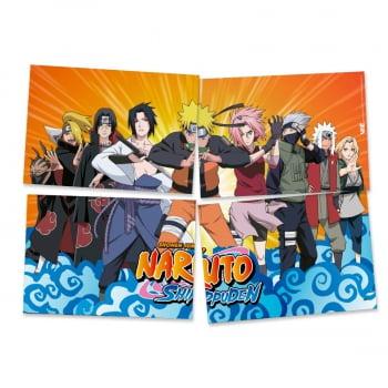 Painel 4 Lâminas - Naruto Shippuden - Festcolor