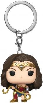 Wonder Woman w Lasso Mulher Maravilha Chaveiro Funko Pocket Keychain