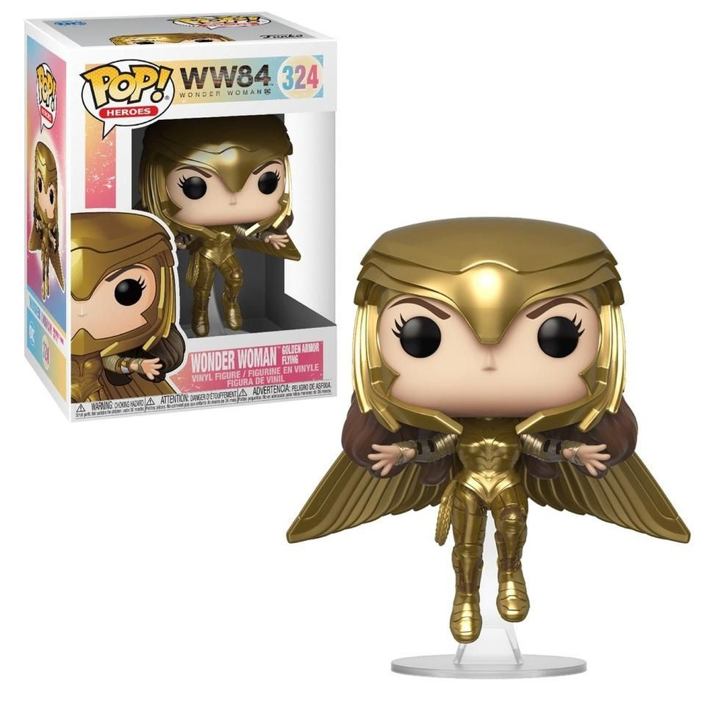 Funko Pop Wonder Woman 324 Golden Armor Mulher Maravilha 1984